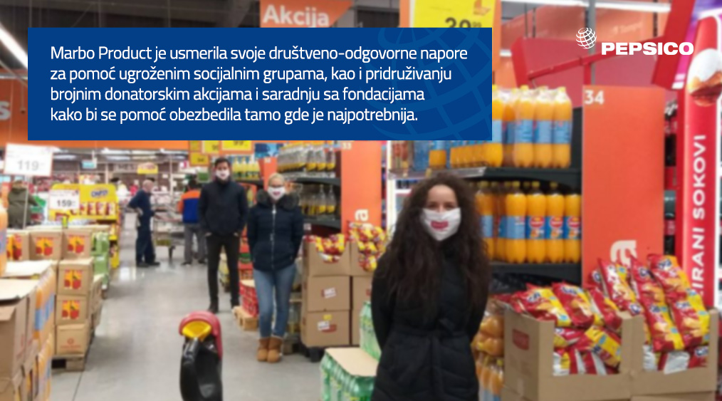 Marbo Product providing support through donations across Serbia